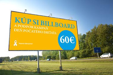 """Fórum života: """"Kúpte"""" si bilboard a podporte kampaň ku Dňu počatého dieťaťa"""