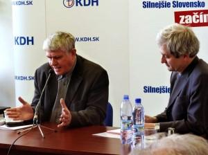 Mons. Václav Malý a Pavol Kossey