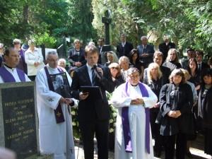 Pohreb Vladimíra Jukla, príhovor Neupauer