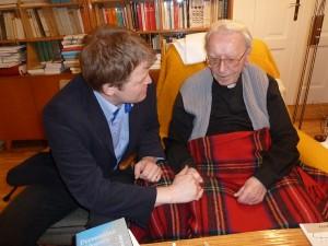 Ján Chryzostom kardinál Korec a František Neupauer (14. mája 2012)