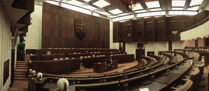 NR SR, rokovacia sála