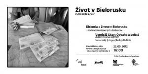Život v Bielorusku - panelová diskusia a vernisáž