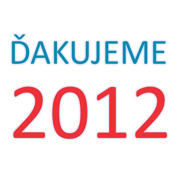 Ďakujeme 2012