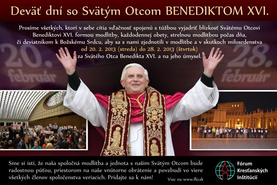 9 dní s Benediktom XVI. (slovenský baner)