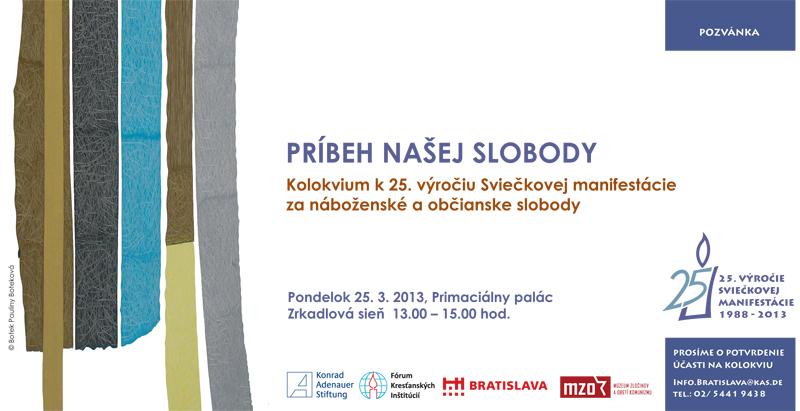 Sviečková manifestácia 2013 -  pozvánka na kolokvium