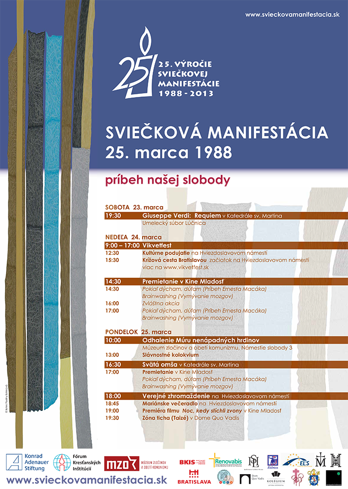 Sviečková manifestácia 2013 - program