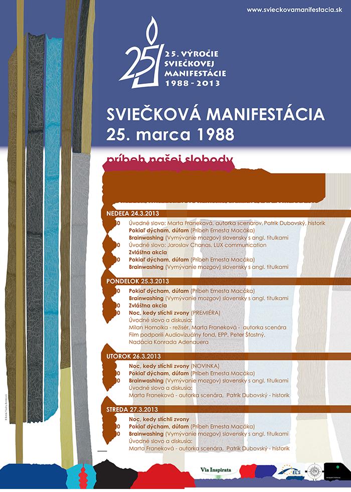Sviečková manifestácia 2013 -  program kina