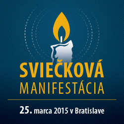 Sviečková manifestácia 2015