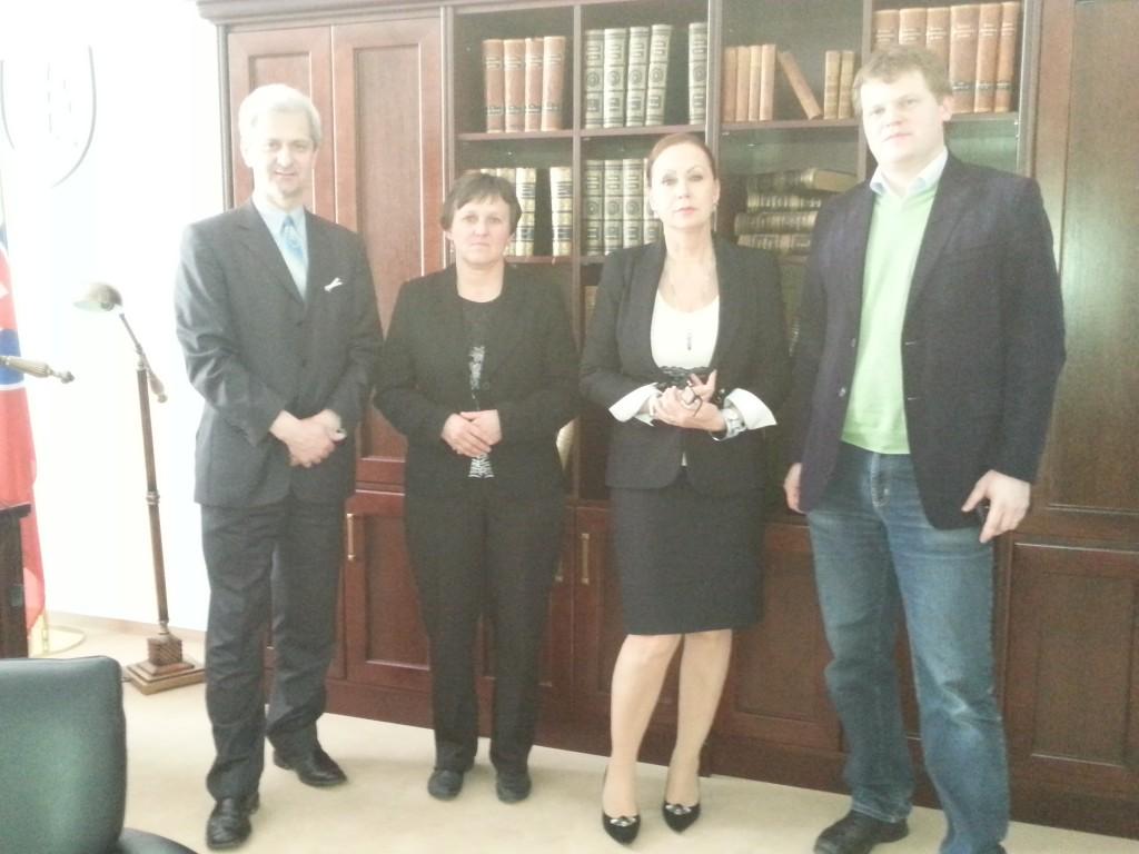 Stretnutie s Ivetou Macejkovou, predsedníčkou ÚS SR, 27. marca 2014