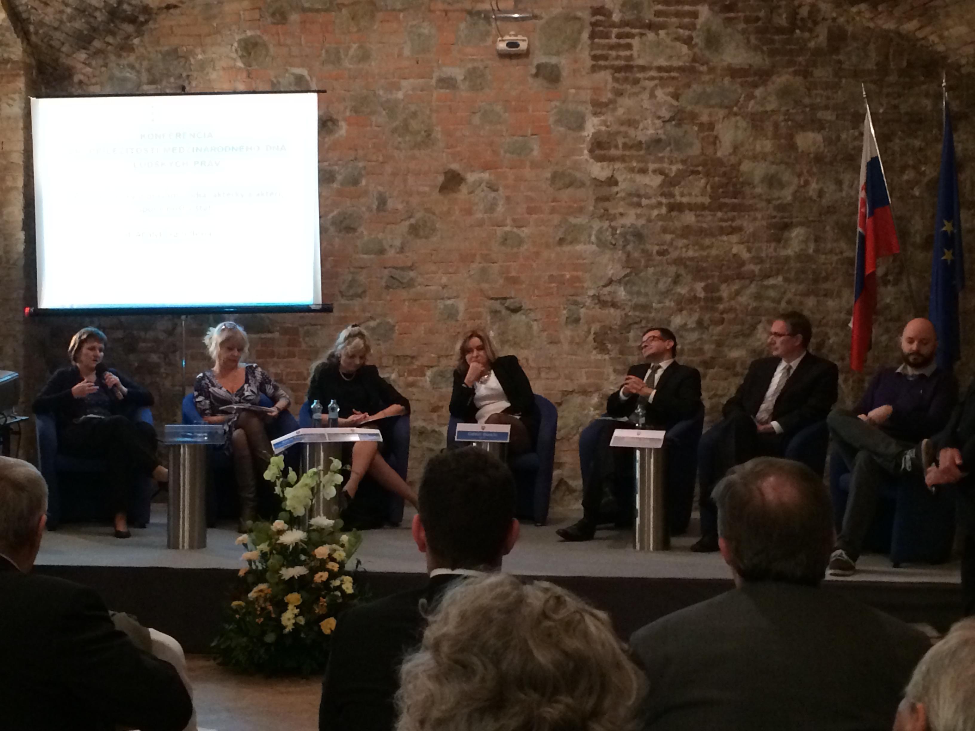Príhovor predsedníčky FKI na Konferencii pri príležitosti Medzinárodného dňa ľudských práv