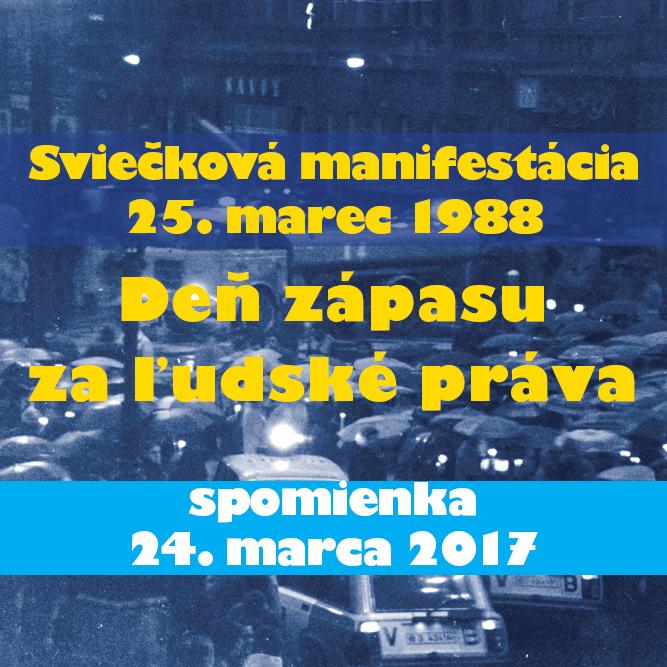 Spomienka Sviečkovej manifestácie 2017