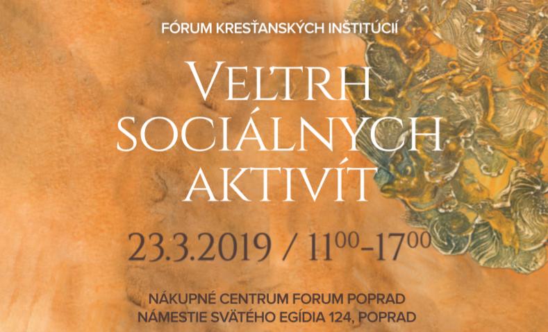Pozvanie na Veľtrh sociálnych aktivít do Popradu 23. marca 2019