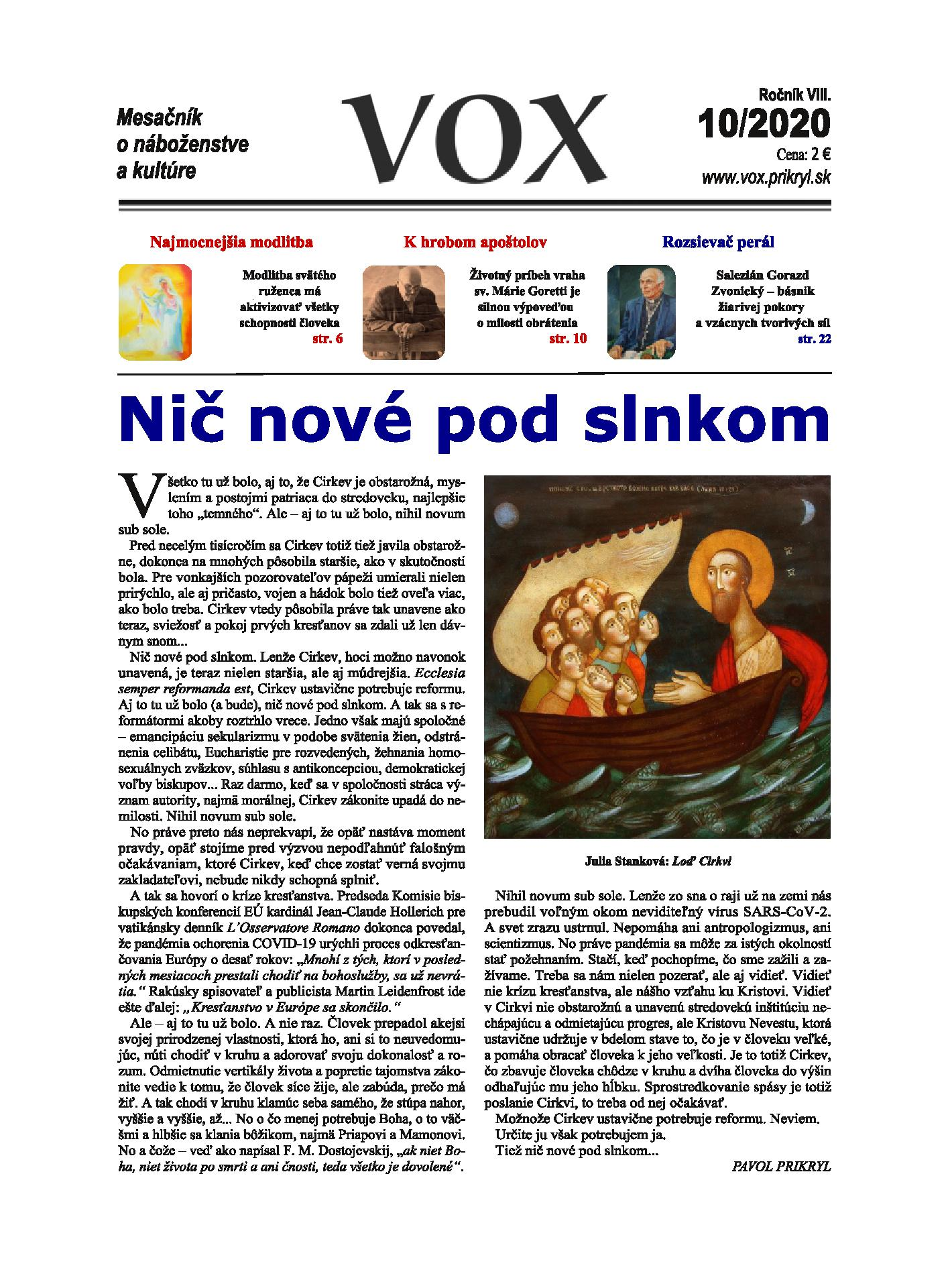 Časopis VOX – odporúčame